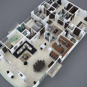 renders para arquitectura planta 3d