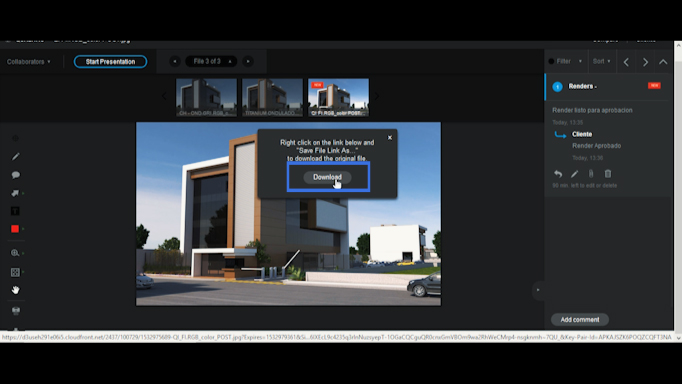 renders arquitectónicos interactivos
