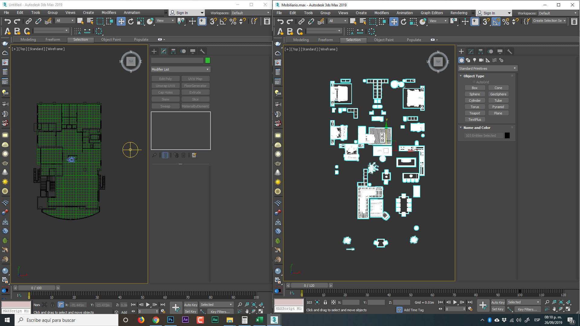 copiar y pegar mobiliario en 3d max con script