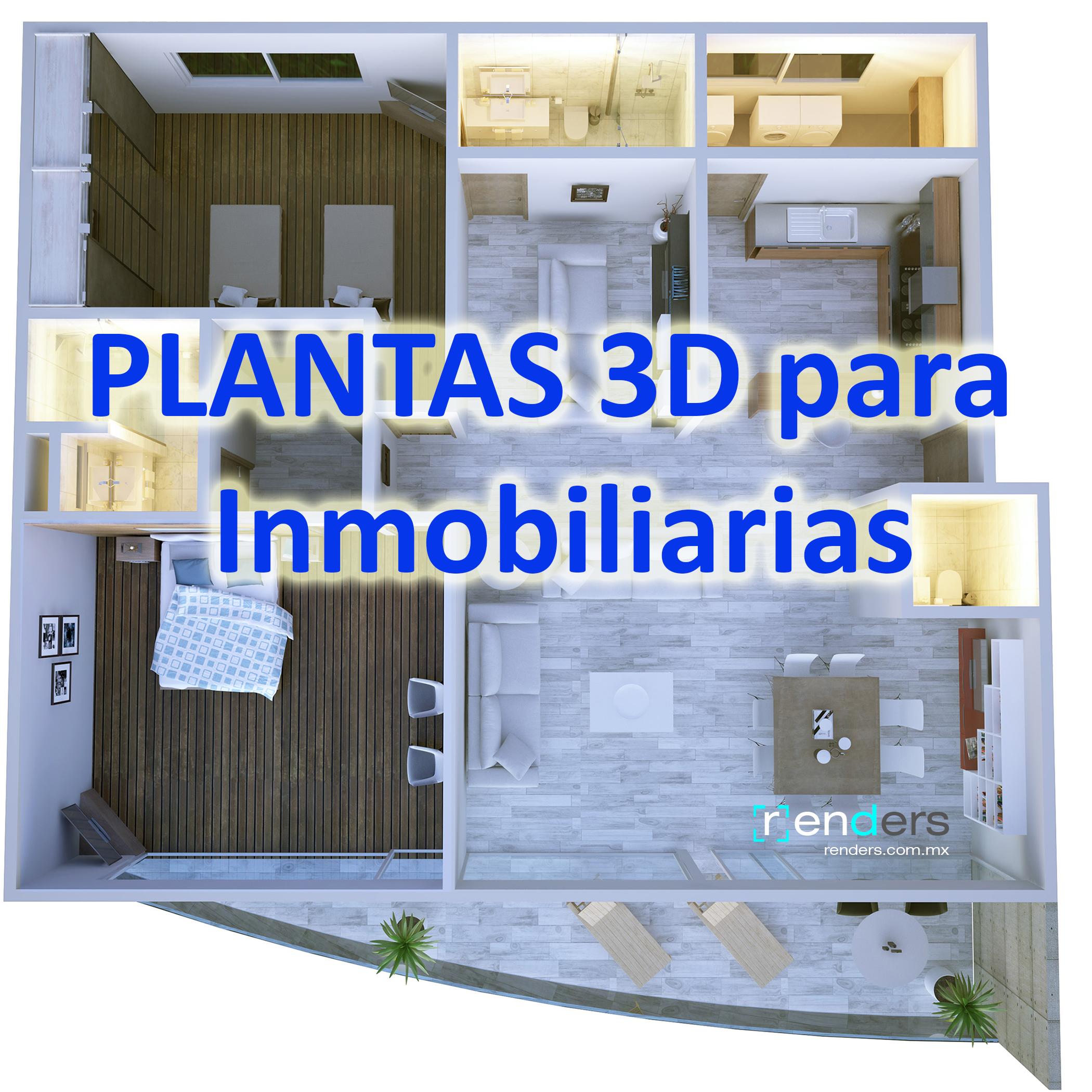 Plantas 3D para Proyectos Inmobiliarios