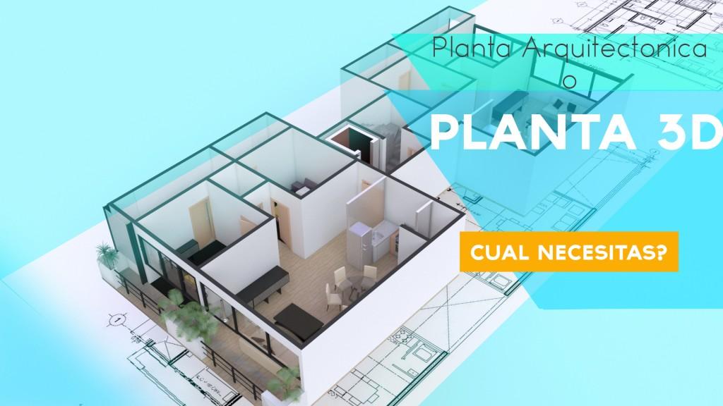 Planta 3d o planta arquitectonica