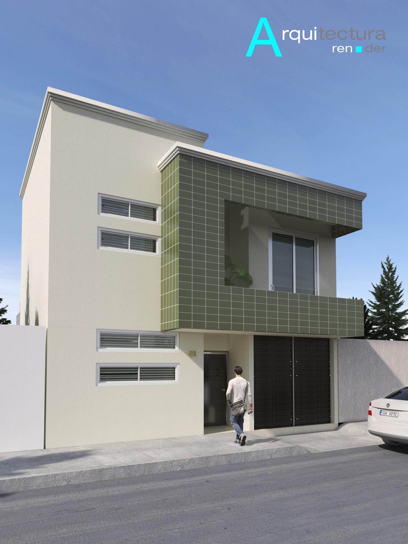 Render exterior de casa habitacion for Rendering casa gratis
