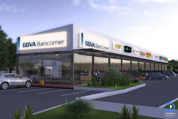 renders exteriores local comercial diseño 1