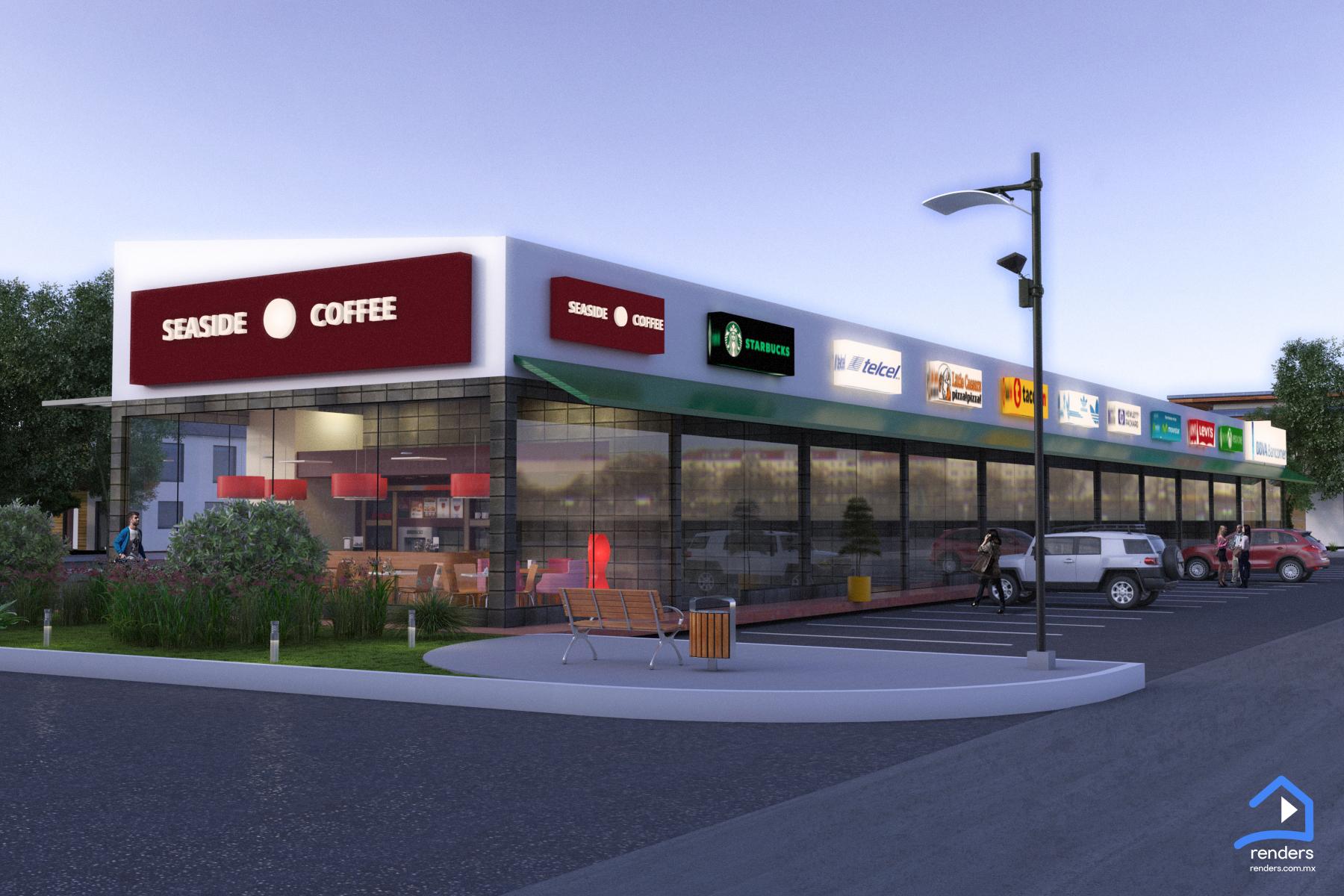 renders exteriores local comercial diseño 2