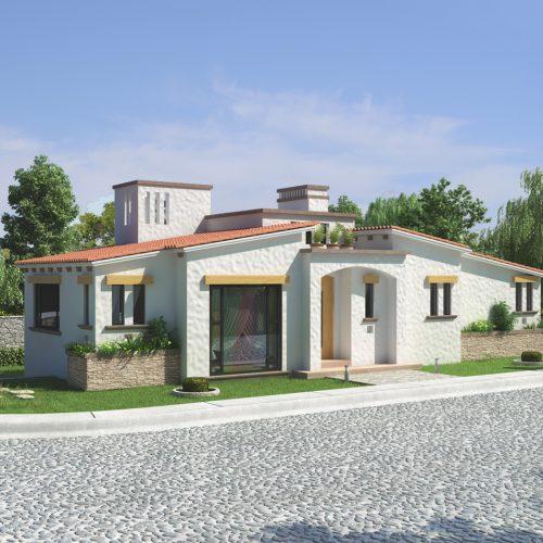 renders exteriores casa residencial