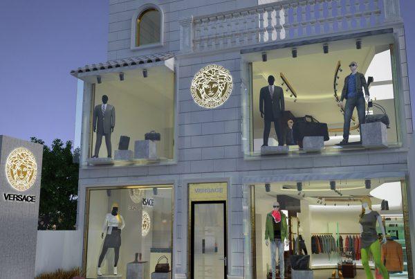 renders exteriores tienda de ropa