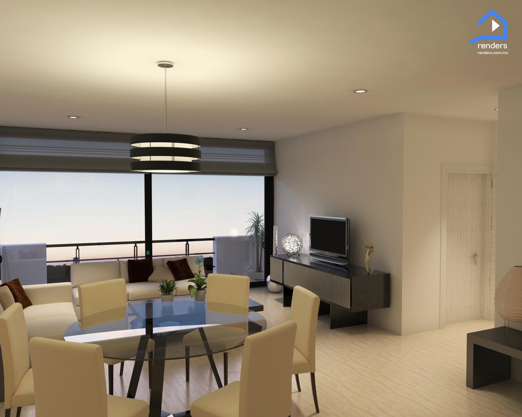 Render interior departemento arquitectura render for Departamento interior