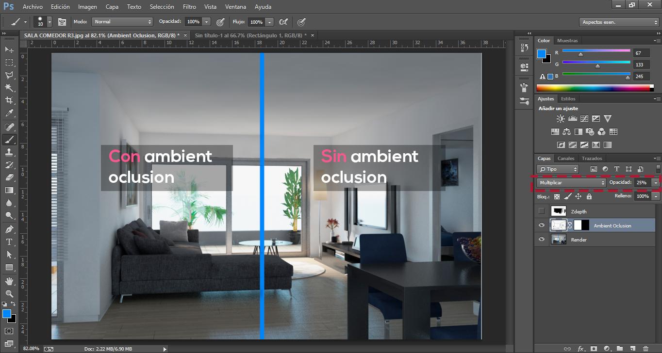 Postproducción de Renders en Photoshop