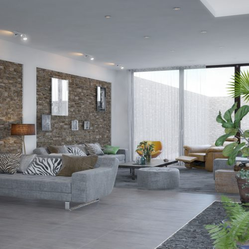render interior de estancia