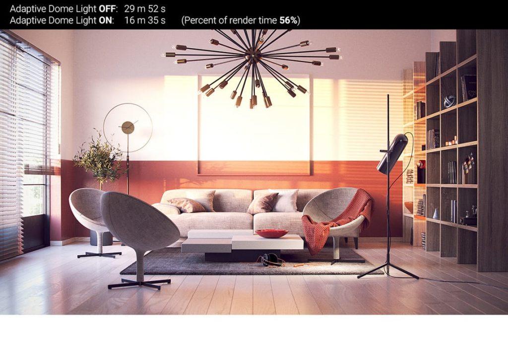vray next 4.2 adaptative dome light