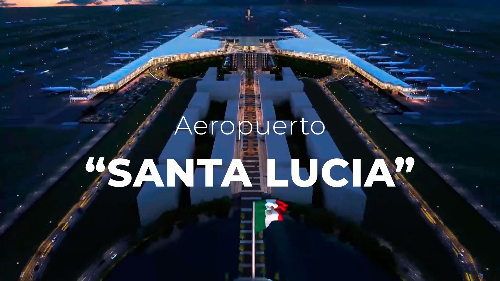 Renders del Aeropuerto de Santa Lucía y Recorrido Virtual