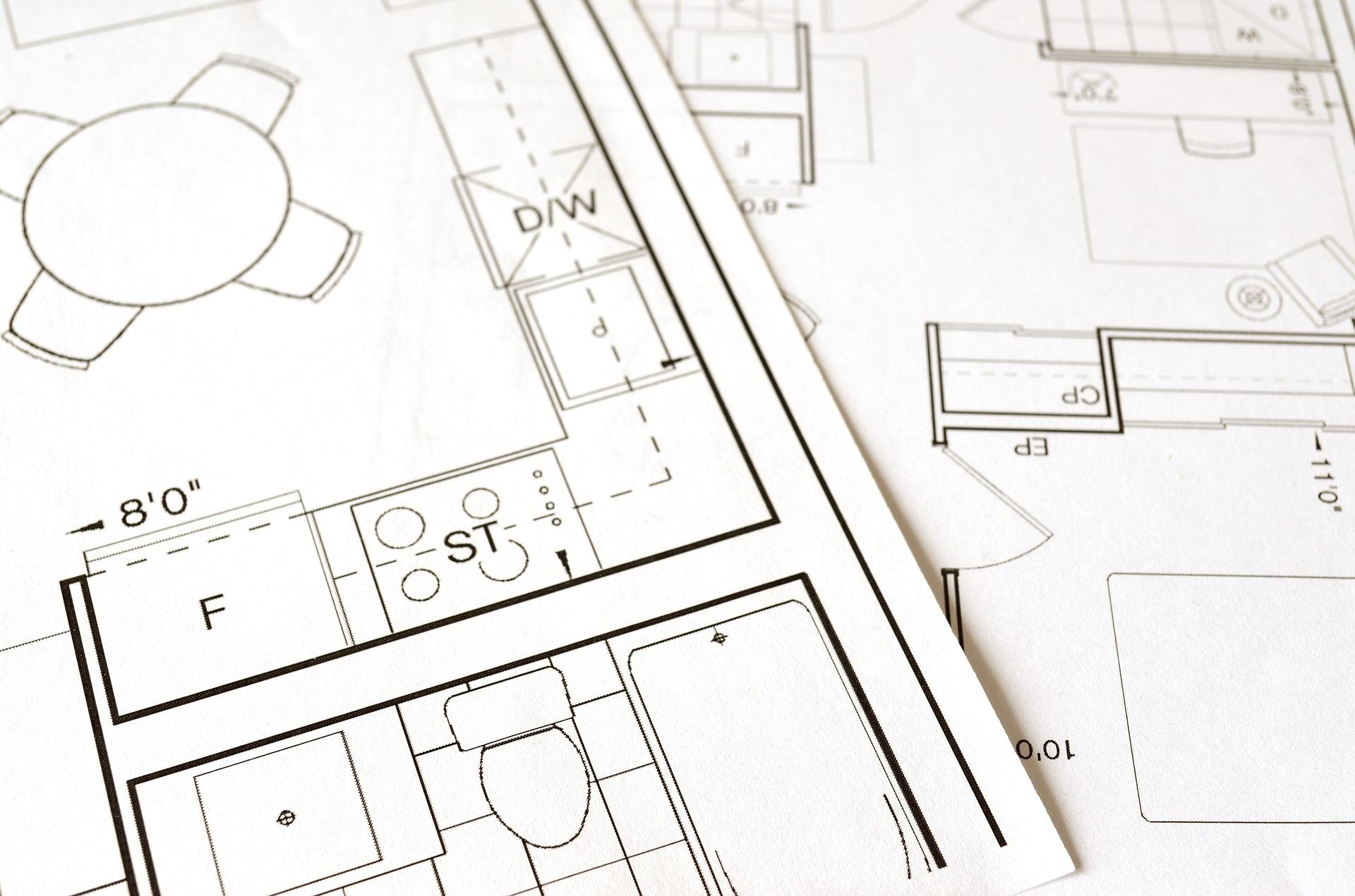 construir la casa con planos o renders