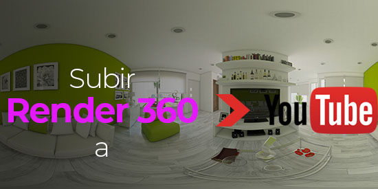 como subir render 360 a youtube