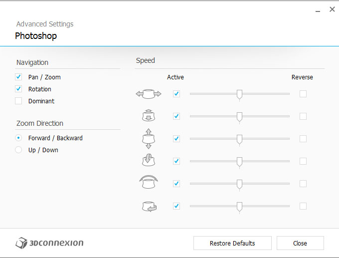 spacemouse wireless 3dconnexion configuracion opciones avanzadas