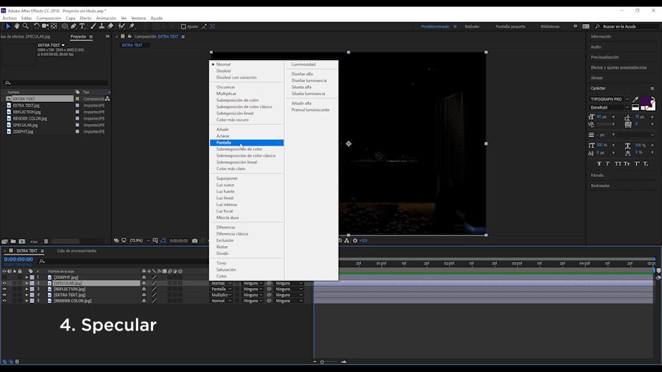 postproduccion de renders en after effects