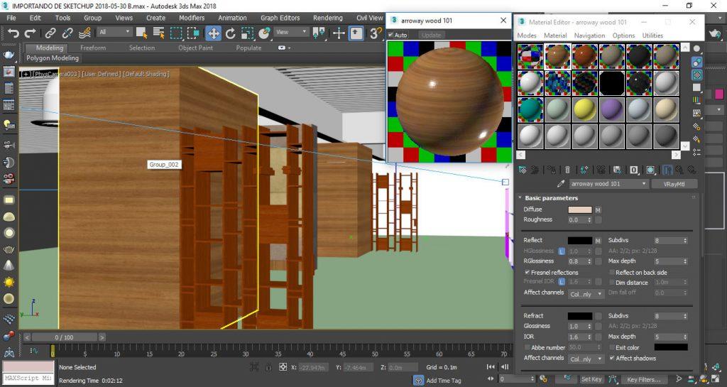 render slot editor de materiales 3d max