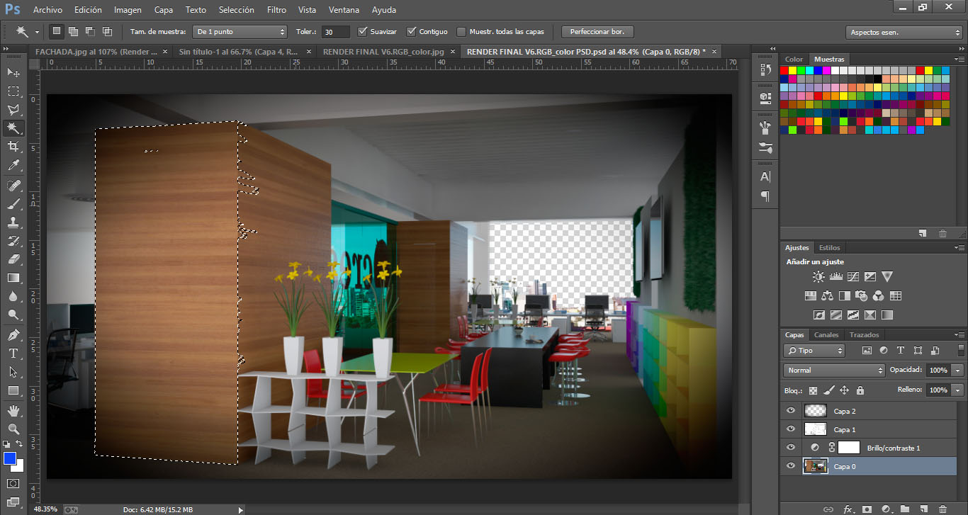 render seleccion en photoshop