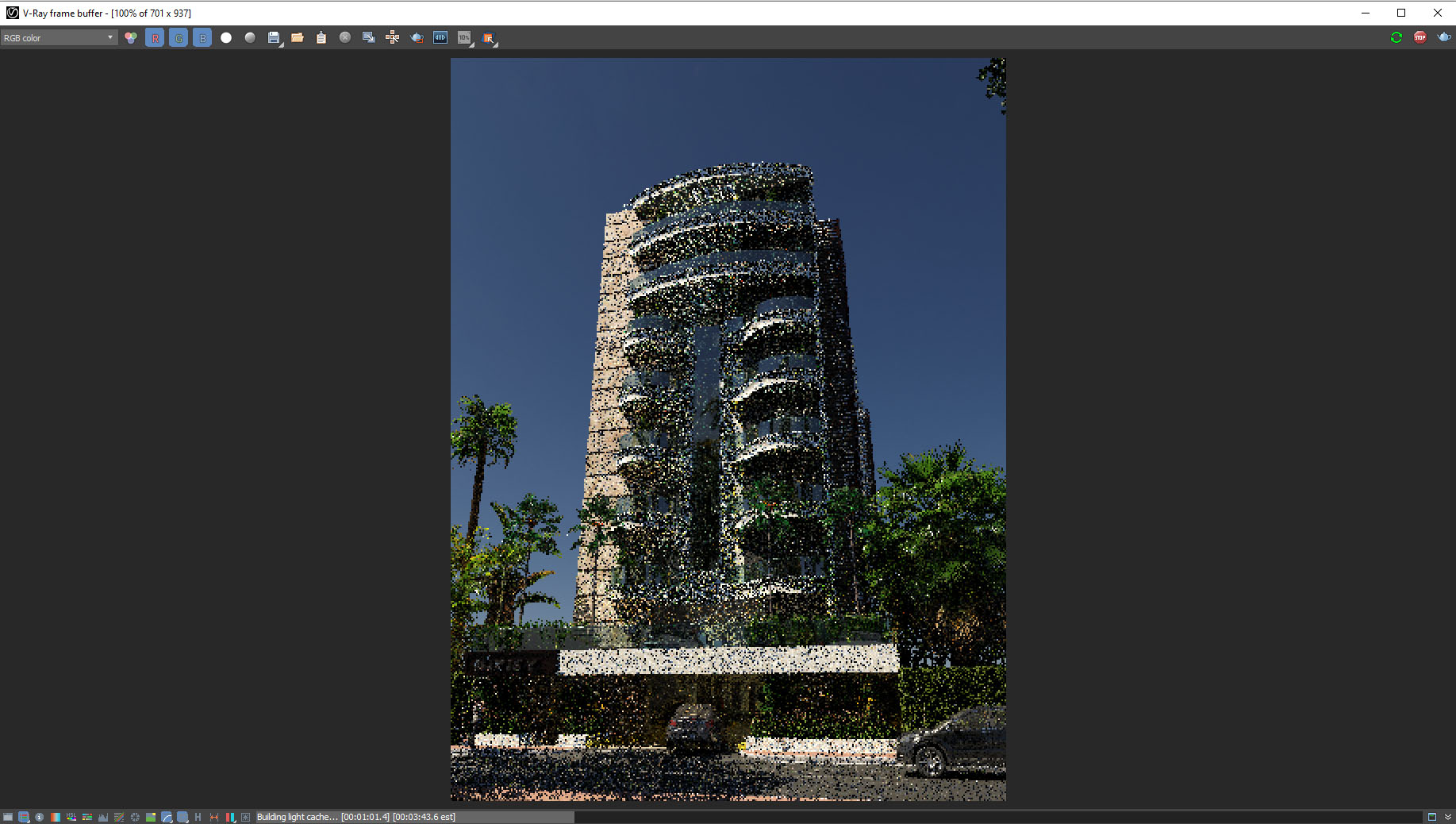 configuración de vray next render interactivo progressive